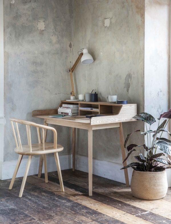 Ashwicke Desk with Storage Ash