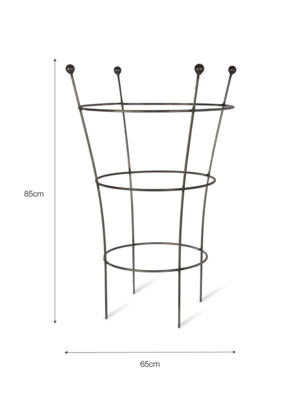 Barrington Flared Plant Support, Large - Raw Metal