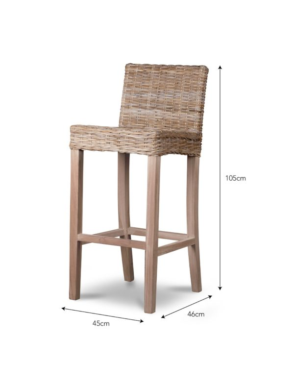 Bembridge Bar Stool - Rattan