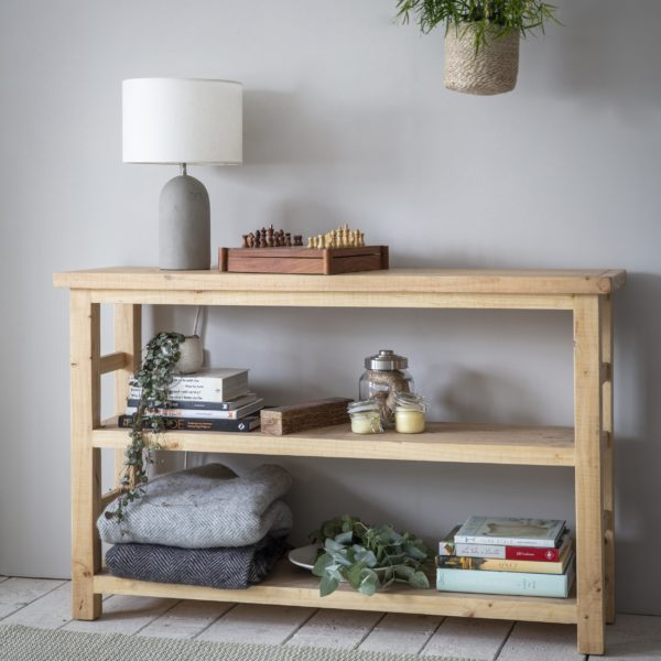 Brookville Shelving Unit Raw Pine