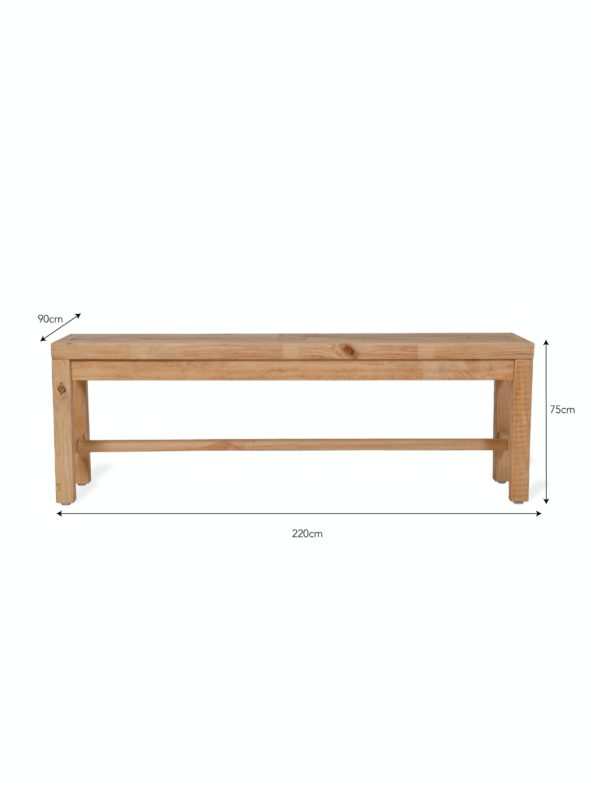 Brookville Table Raw Pine large
