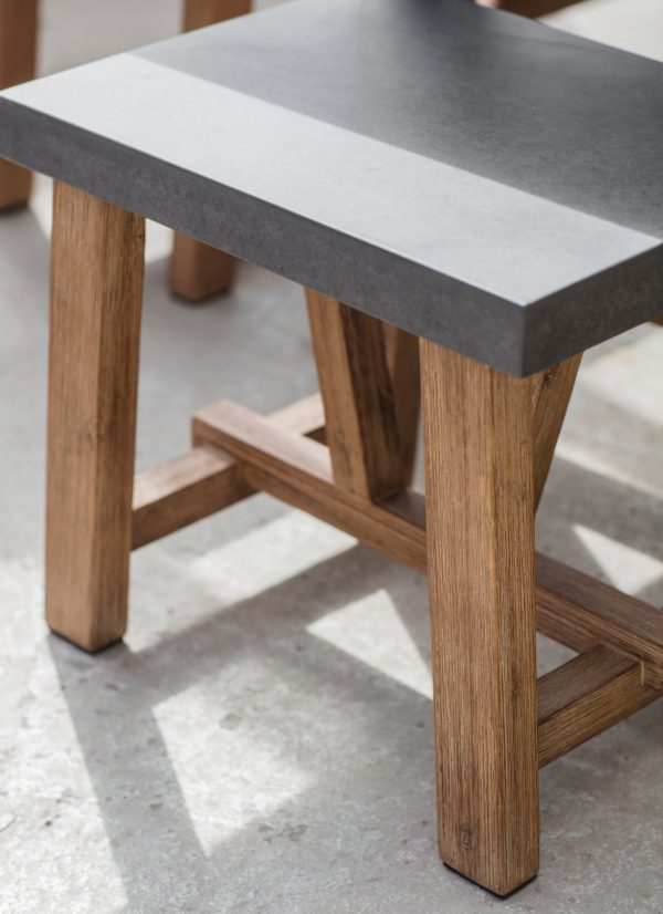 Chilson Table and Bench Set, Large - Cement Fibre