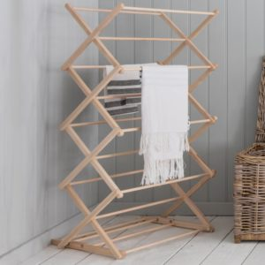 Folding Clothes Horse Beech