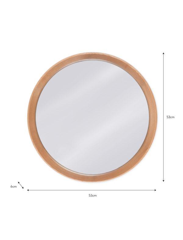 Hambledon Round Mirror Oak