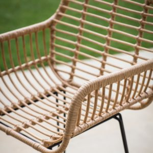 Hampstead Bar Stool with Arms - All-weather Bamboo