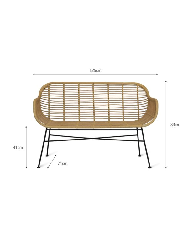 Hampstead Bench All-weather Bamboo