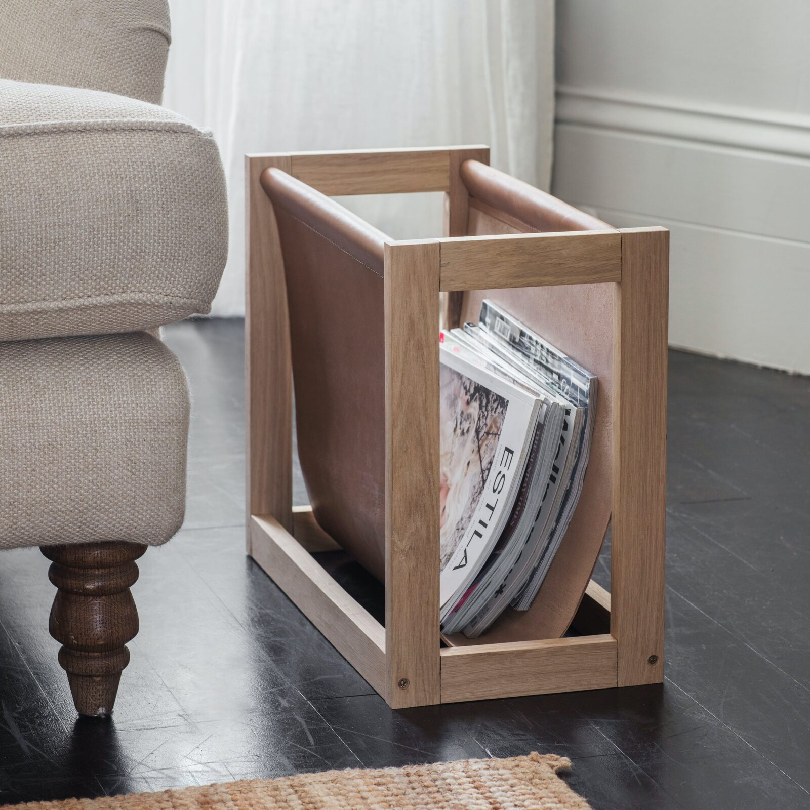 Kelston Magazine Holder Oak