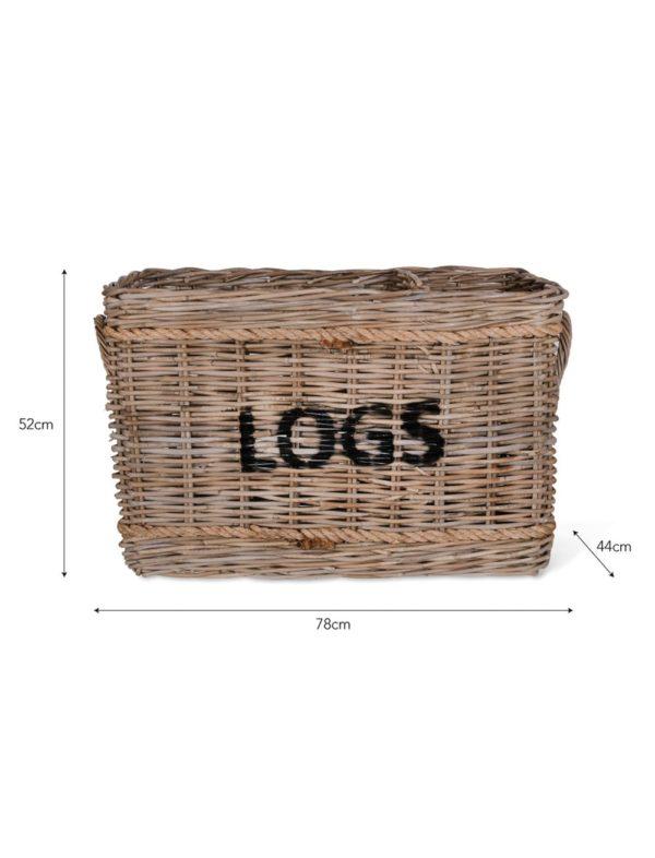 Log Basket Rattan
