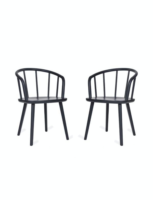 Pair of Carver Chairs in Carbon - Ash