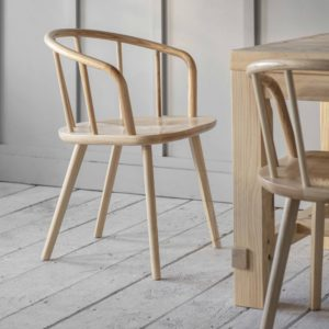 Pair of Carver Chairs in Ash Beech