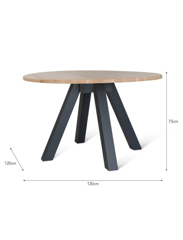 Round Dining Table Raw Oak