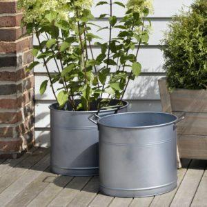 Set of 2 Buckets - Galvanised Steel