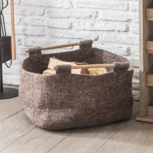 Southwold Basket with Wooden Handle - Felt