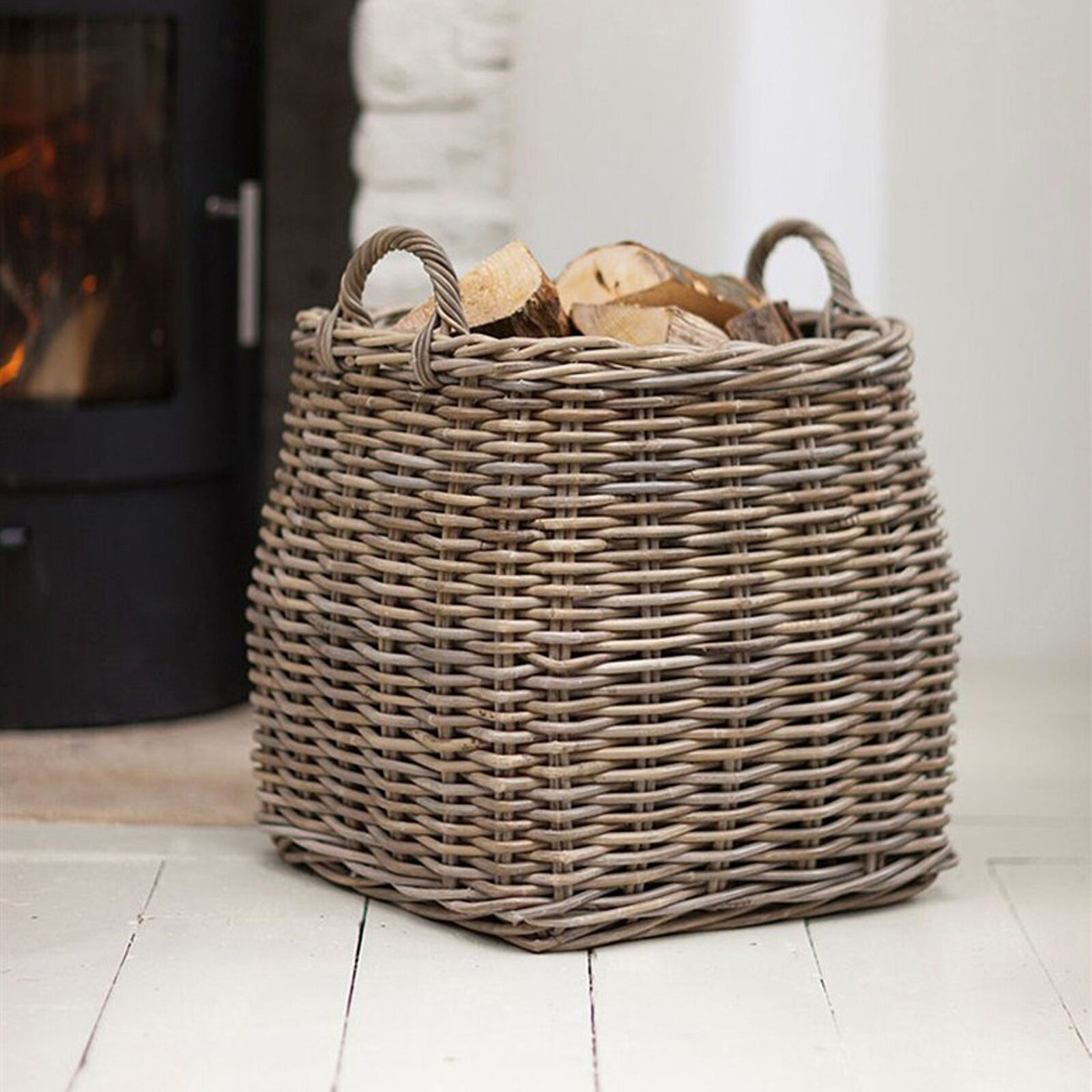 Tapered Basket - Rattan