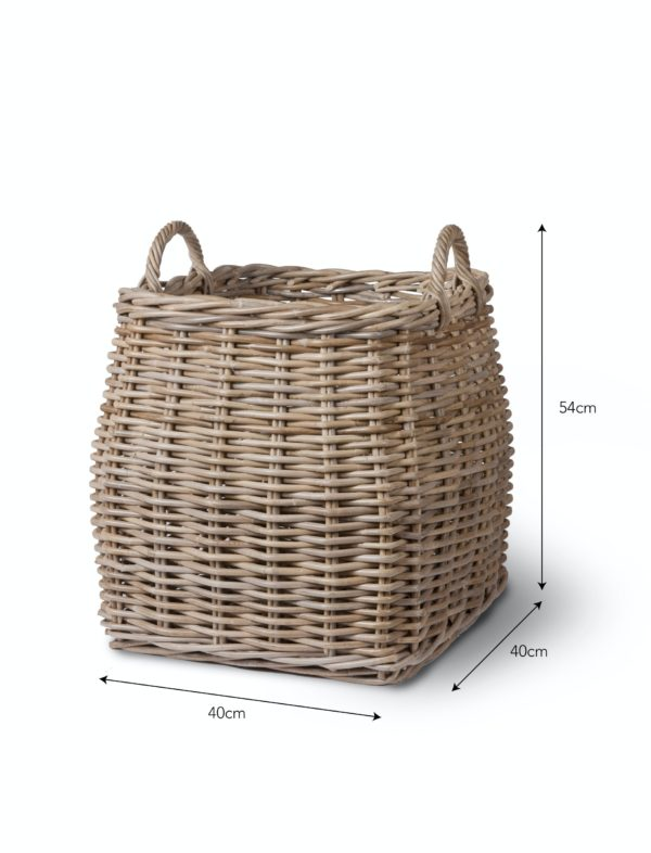 Tapered Basket - Rattan