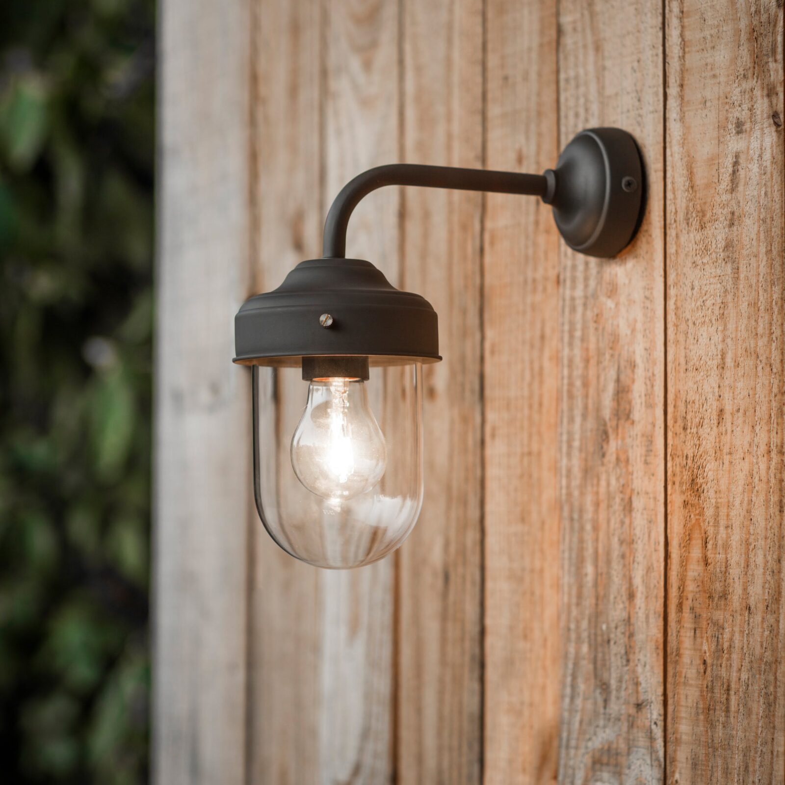 Barn Light in Coffee Bean - Steel