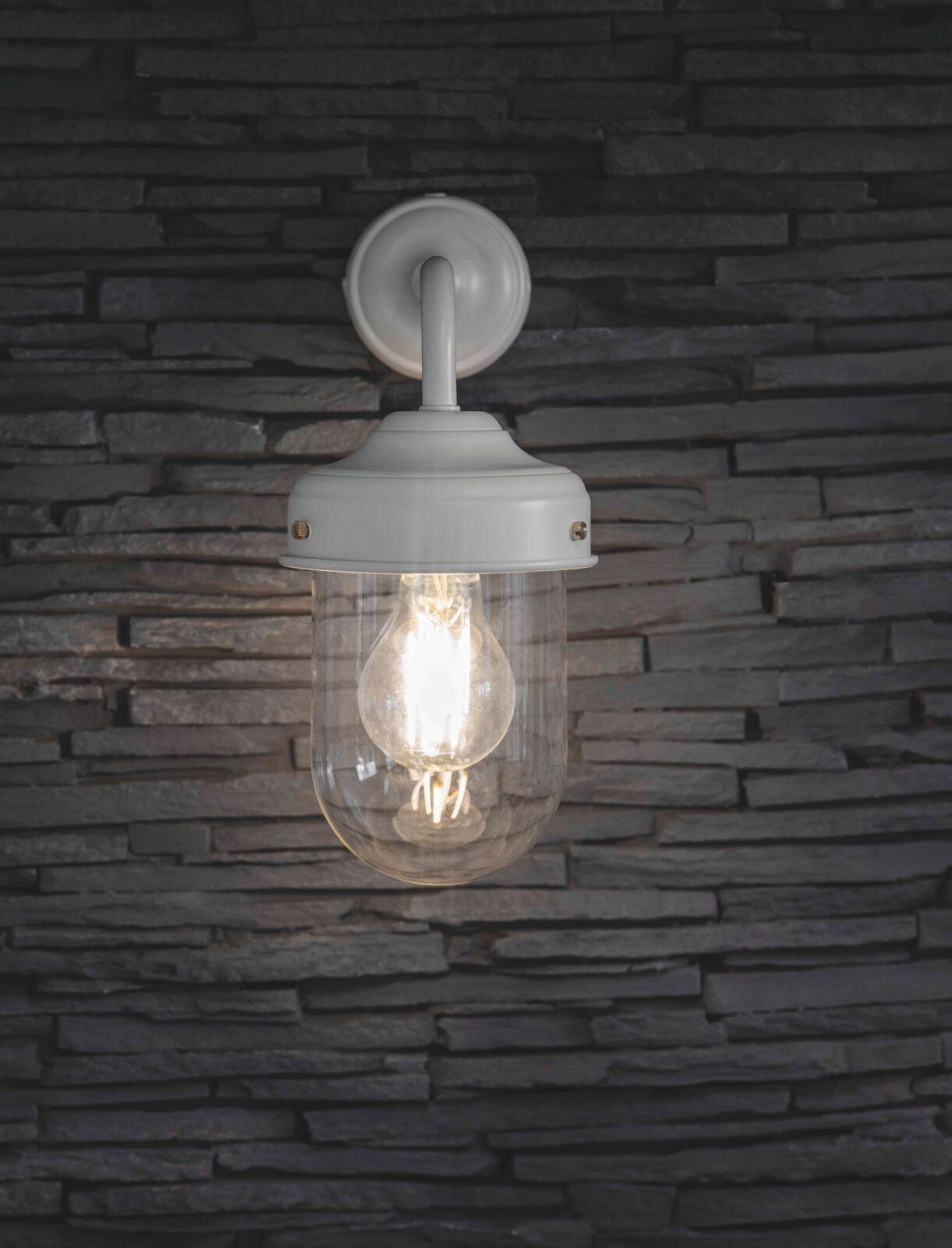 Barn Light Powder Coated Steel White