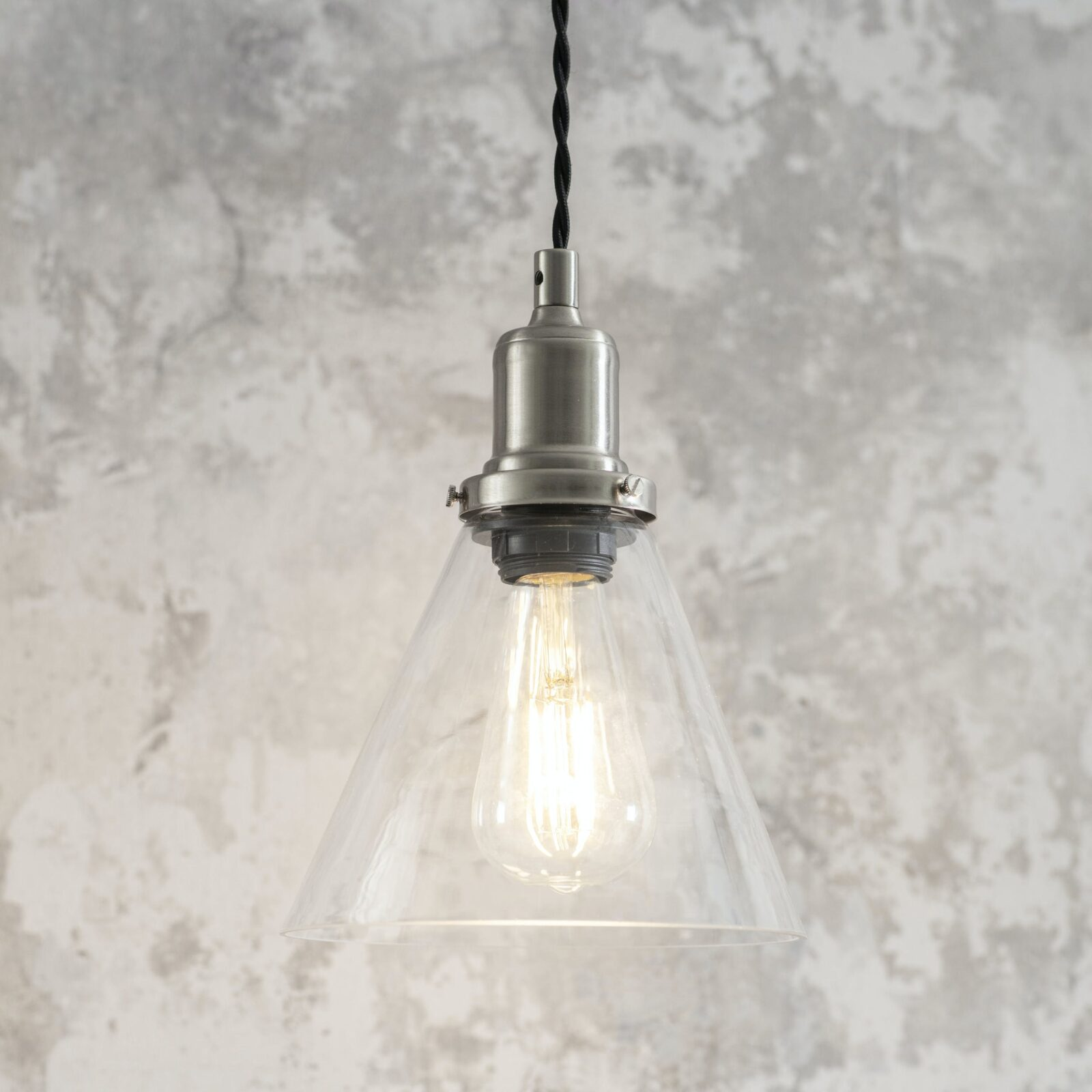 Hoxton Cone Pendant Light Satin Nickel