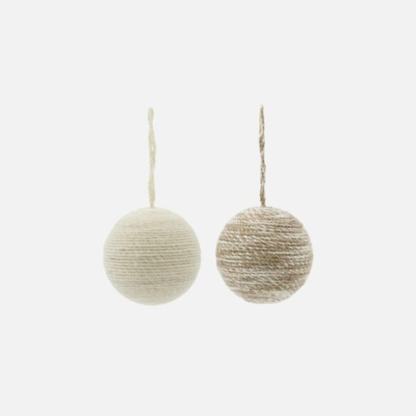 Set of Two House Doctor Yarn Baubles