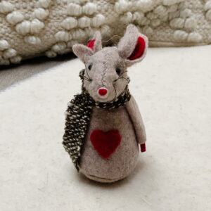 Felt mouse hanging decoration