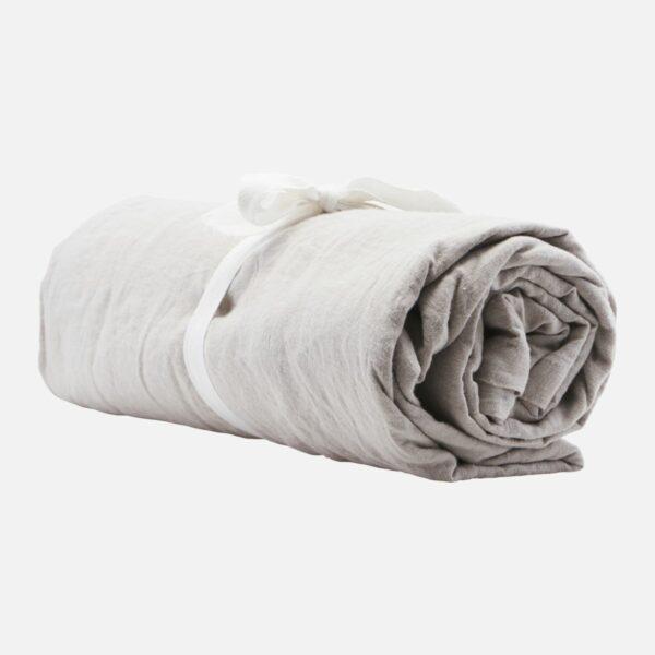 Large Linen Tablecloth, Light Grey