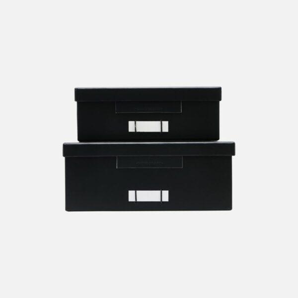 Monograph storage boxes black