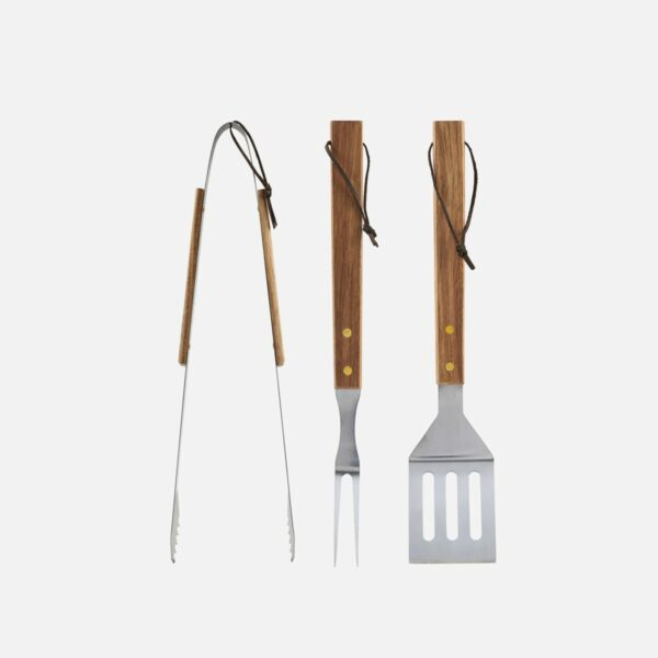 Nicolas Vahé BBQ Tool Set, Acacia WoodBBQ tools set Acacia