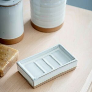 Vathy Ceramic Soap Dish by Garden Trading