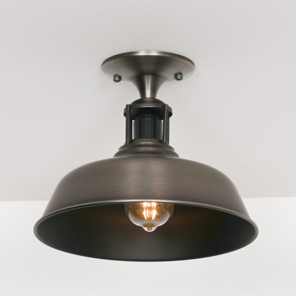 BRUSHED SILVER CEILING LIGHT