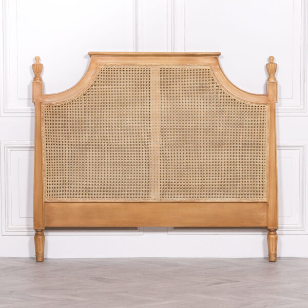 FRENCH RATTAN HEADBOARD 5FT KING SIZE