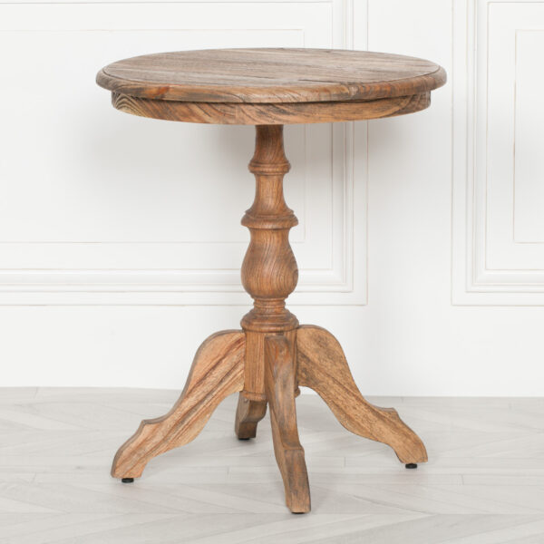 RUSTIC WOODEN SIDE TABLE