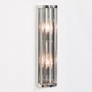 Art Deco Wall Light Medium Fluted Glass